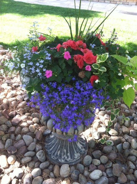 Shade Flower Pots Containers Idea For Covered Porch Or