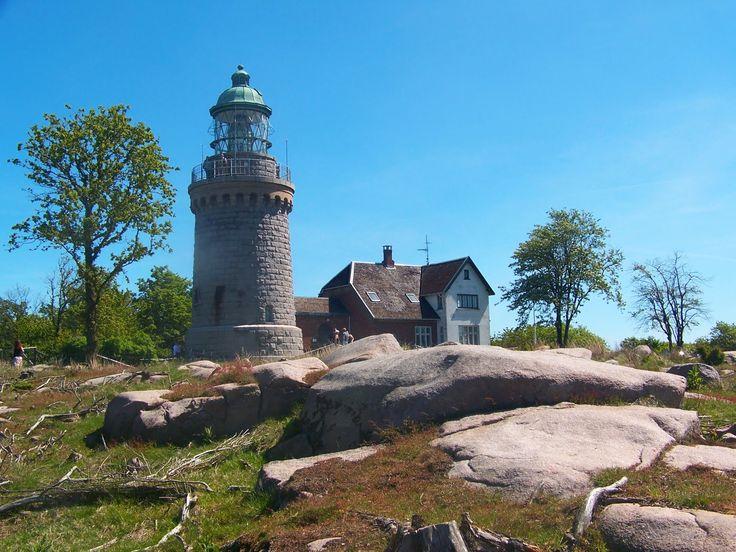 Lighthouse in Gudhjem, Bornholm, Denmark