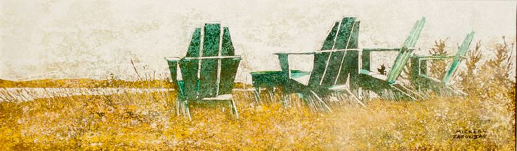 """the horizon 17 (fundy side) 10"""" x 30""""    micheal   zarowsky    watercolour on arches paper / private collection"""