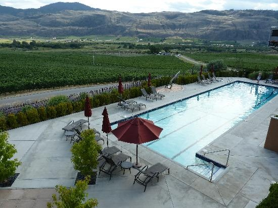 Burrowing Owl Estate Winery Guest House: View of the pool #BritishColumbia