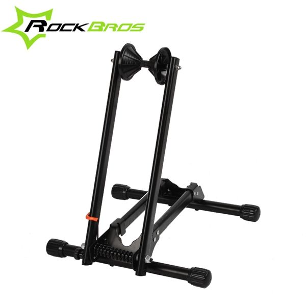 Rockbros portátil de doble polo de reparación para bicicletas mtb marco de soporte del soporte de exhibición estante
