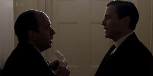 Thomas and Mosely on Downton Abbey Season 3 Episode 3