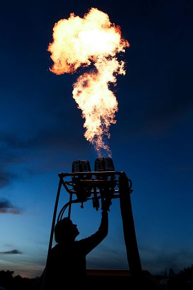 A pilot fires up a burner to launch the 2016 Wairarapa Balloon Festival on…