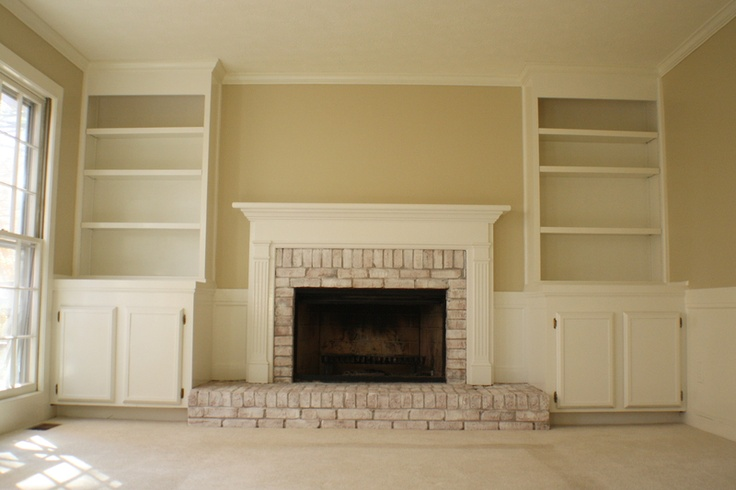 Whitewashing On A Red Brick Fire Place Fireplace Remodel Pinterest Red Brick Fireplaces