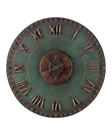 Look what I found on #zulily! Roman Numeral Outdoor Wall Clock #zulilyfinds