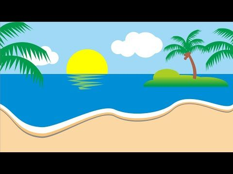 Menggambar Landscape Pantai Menggunakan Corel Draw X7 Kurang Dari 10 Menit Youtube Pantai Gambar Pemandangan