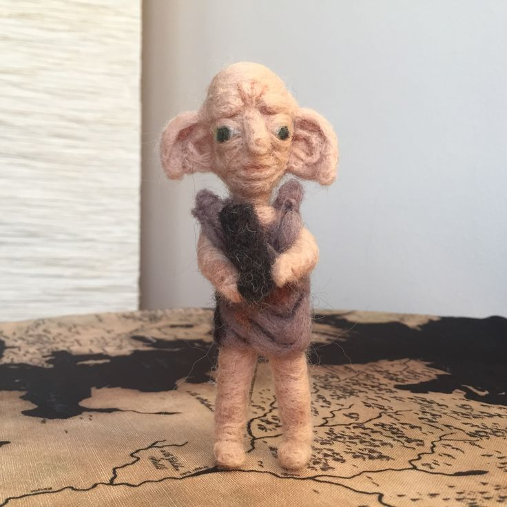 Dobby the house elf needle felt wool