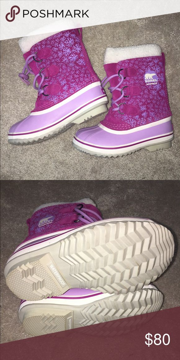 Girls Size 1 Pink and Purple Sorel Snow Boots Size 1 Girls Sorel Snow Boots! Sorel Shoes Rain & Snow Boots