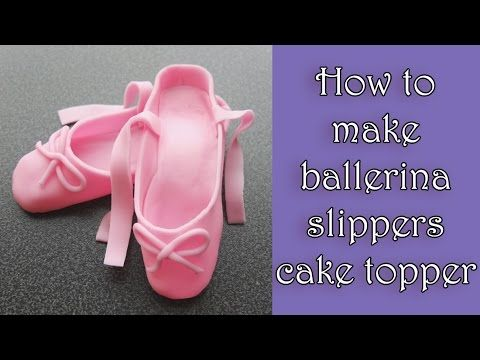 How to make fondant ballerina slippers tutorial / Jak zrobić baletki z masy cukrowej - YouTube