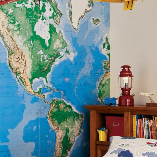 Adjacent Wall Will Be This Love World Map Mural Map