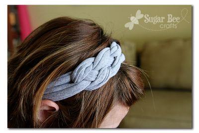 knotted tshirt headband