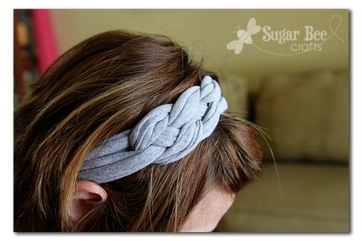 DIY tshirt headband: Knot Headbands, Knottedheadband, Tshirt Yarns, Knotted Headband, Diy Headbands, Tshirt Headbands, T Shirts, Sugar Bees, Bees Crafts