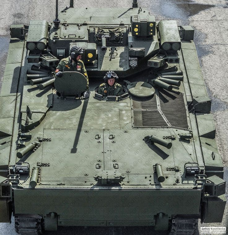 New Russian ground forces IFV – the B-11, based on Kurganets-25 chassis, photo shows details of the roof, APS and RCWS, armed with 30mm 2A42 mm cannon and 4 Kornet-EMs