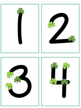 Point and Press Number Cards with Clovers 1-9 (she has touch math numbers for all kinds of holidays!)