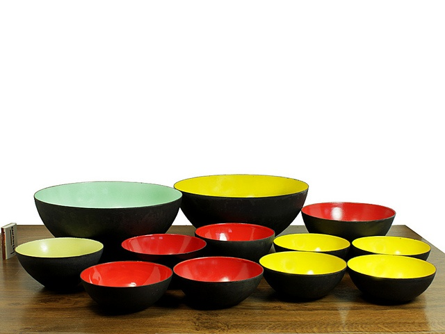 Danish Modern Krenit Bowls.