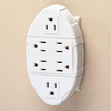 Six Outlet Wall Adapter #HouseholdOrganization #OrganizationIdeas