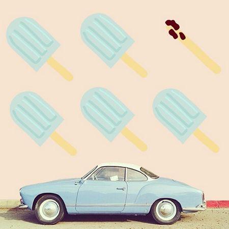 L'artiste Finnano Fenno lance sur #instagram le projet #finnycar. Le principe est simple : postez, avec le hashtag dédié, une photo de voiture vintage que vous croisez dans la rue et Fenno vous transformera votre cliché en une oeuvre unique.