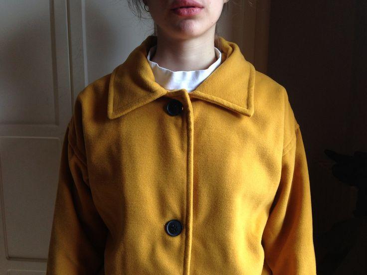 Camel coat, dust boyfriend oversized coat by Madeleinette on Etsy