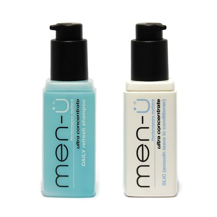 Ideal duo for the gym bag or the weekend away - compact bottles with lockable pumps.