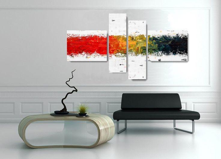 Produzione e vendita online di Quadri moderni astratti - 100% dipinti a mano. Quadri multicolor
