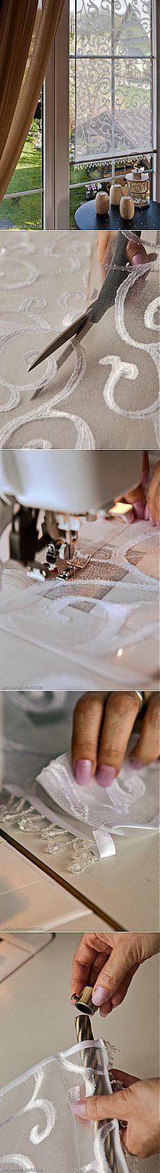 Панельная занавеска своими руками Римские шторы и панельные гардины очень…