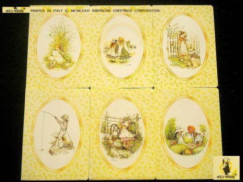 HOLLY-HOBBIE-Vintage-collezione-1976-80-QUADERNI-Notebooks-cornice-ovale
