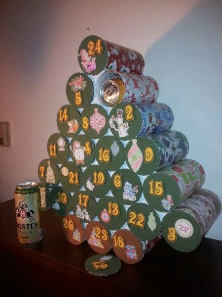 Beer-filled Advent Calendar Christmas Tree