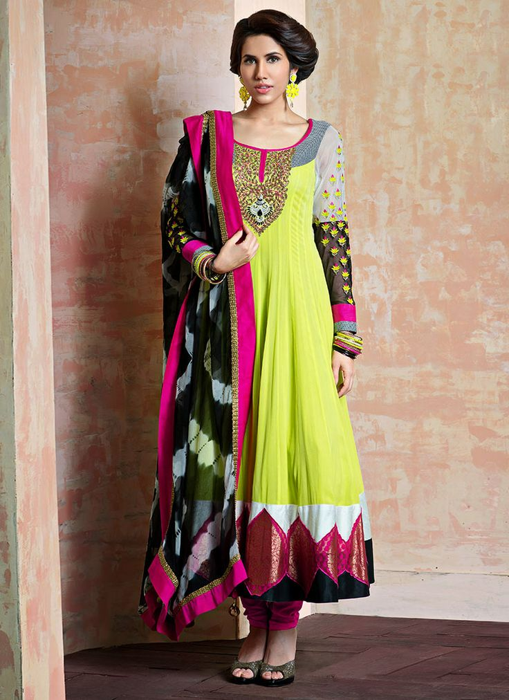 Jazzy Georgette Anarkali Suit