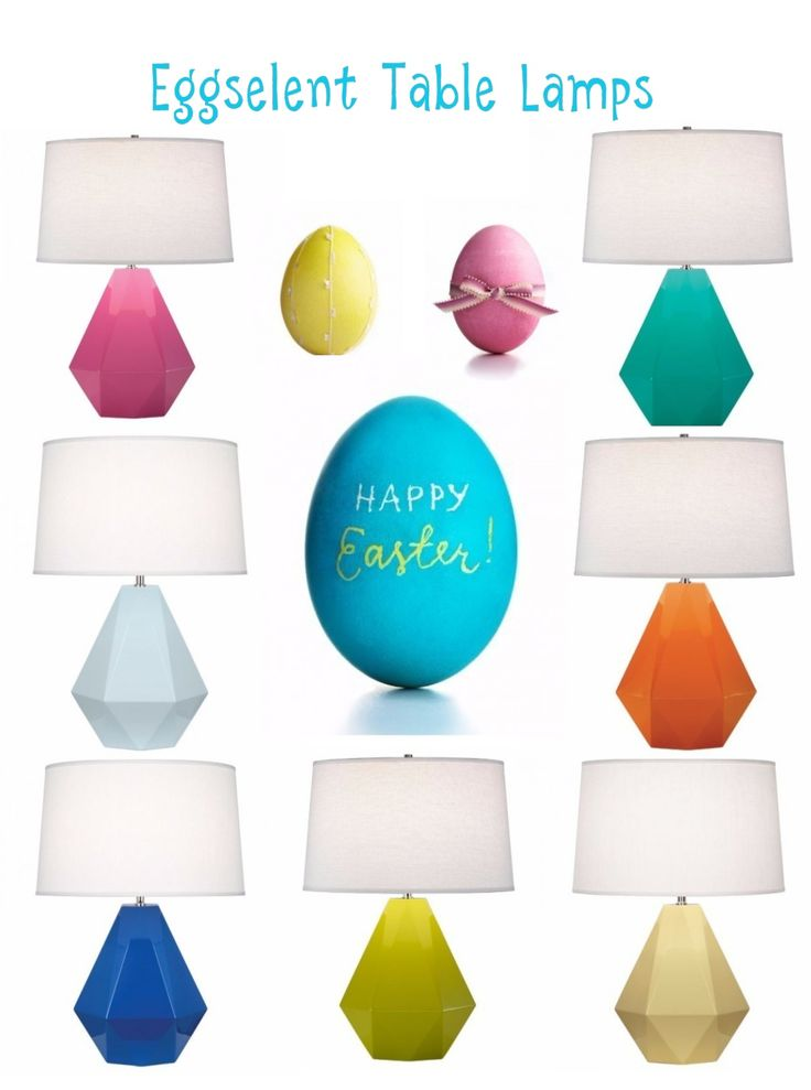 Are you all ready for Easter and the warmer spring weather?! We certainly are!! A great way to get ready is to add cheerful pops of colour in your space, and these #table lamps sure do #pop, you could even say these #lamps are #Eggselent!!!