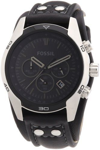 Fossil Trend Chronograph Black Dial Black Leather Mens Watch CH2586 on http://watches.kerdeal.com/fossil-trend-chronograph-black-dial-black-leather-mens-watch-ch2586