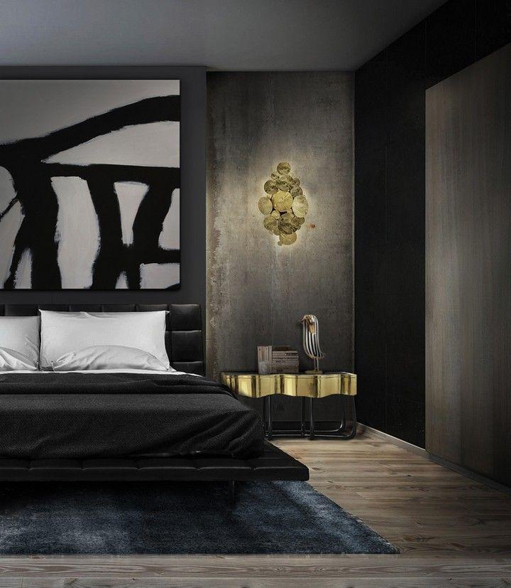 Creative Black Design Inspirations For Modern Master Bedrooms