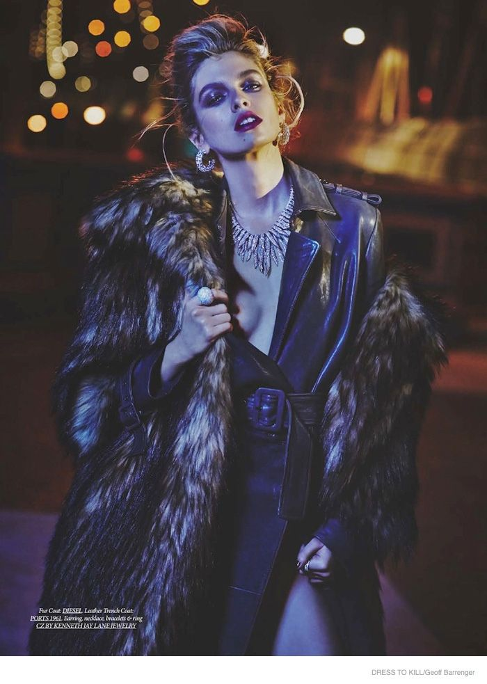 Stella Maxwell Wears Nighttime Fashions for Dress to Kill Check out: www.LegCandyApparel.com