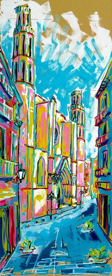 """""""Sta. Maria del Mar - Barcelona""""  (70x28,5 cm.) ·   Francesc Palomas"""