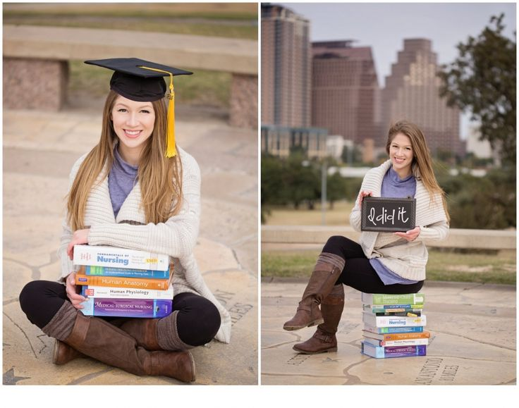 Lauren makes her cap and gown look fierce! // graduation photos + senior portraits + what to wear for senior portraits + Free People + nursing program