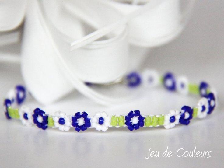 AprilBoten Armband 100 Blumenband von Jeu de Couleurs auf DaWanda.com