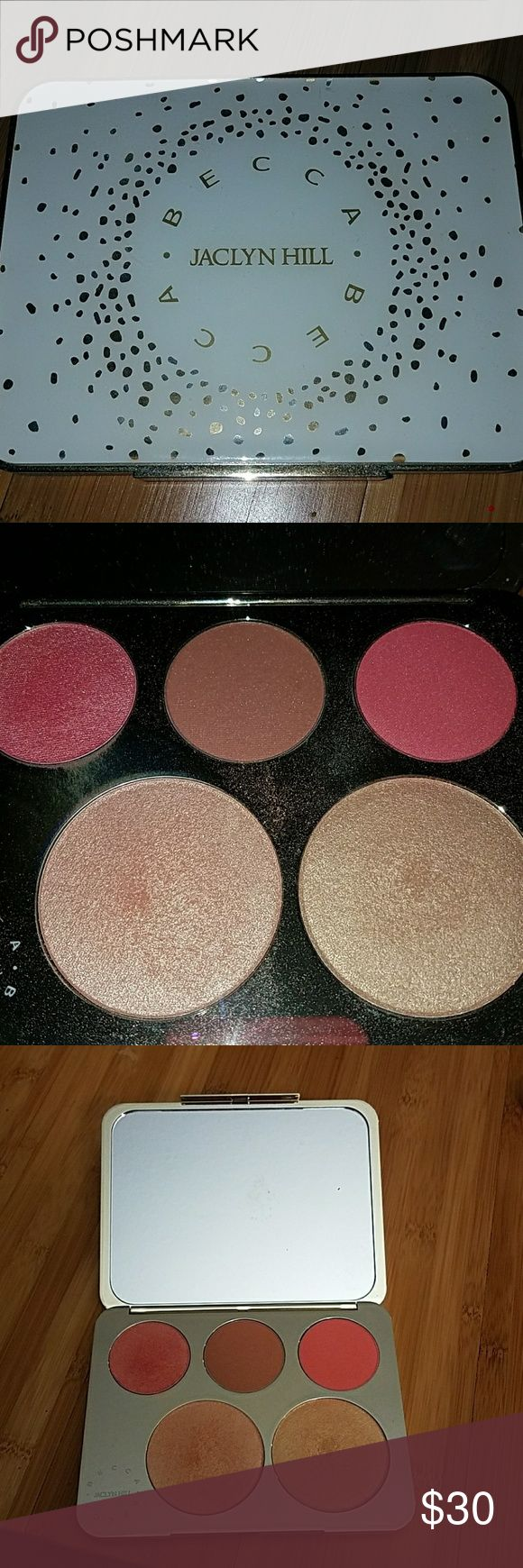 Becca ? Jaclyn Hill face palette CONDITION: this item is NOT new, this is pre loved but in like new condition!  ITEM: Some of the blushes haven't been touched, the box and protective layer will be included upon purchase. BECCA Makeup Blush