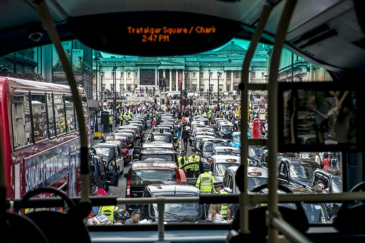 Traffic Snarls in Europe as Taxi Drivers Protest Against Uber JUNE 11, 2014-NYTimes.com LONDON- Europe's taxi drivers on Wednesday picked a fight with Uber, an increasingly popular smartphone car-paging service, dared consumers to choose sides.