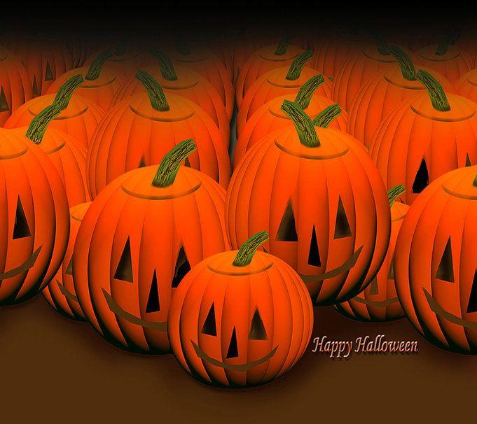 veselý halloween dýně vektor