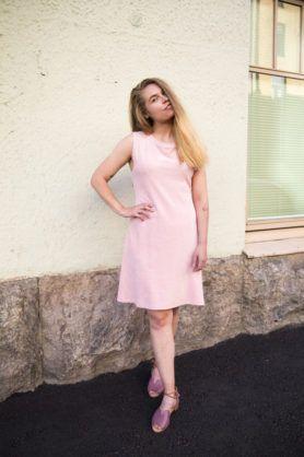 Mori Collective Ariel Midi Dress Rose Quartz