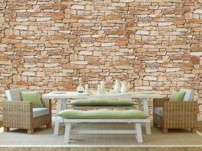 25 beste idee n over stenen muren op pinterest nep for Wat is vliesbehang