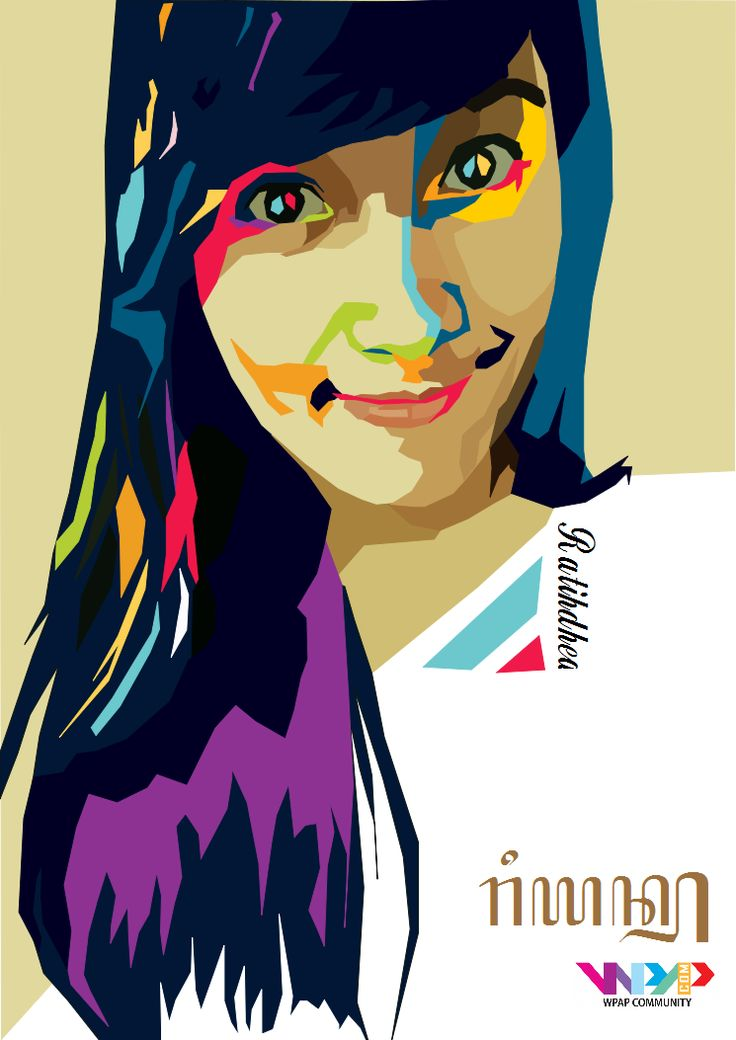 WPAP 6th Project Model: @dhearatihdhea Software: Inkscape Wpaper: @Ryan23__