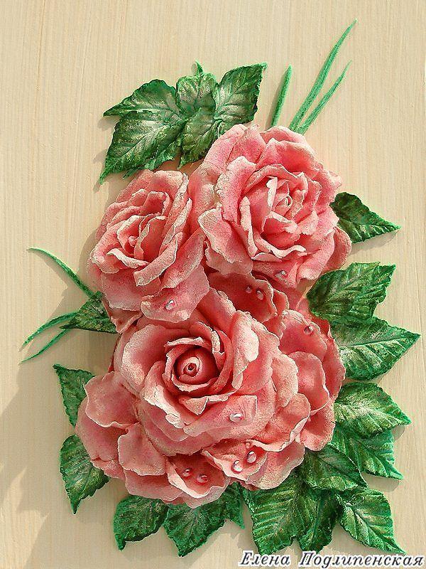 Волшебная роза - Скульптура и лепка - Лепные панно и барельефы