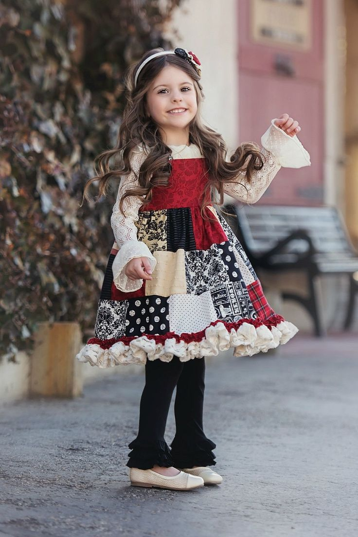 Patchwork Dress (F16) - Multi - Persnickety Clothing