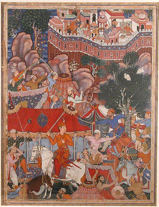 "India___The Metropolitan Museum of Art - ""Assad Ibn Kariba Launches a Night Attack on the Camp of Malik Iraj"", Folio from a Hamzanama (The Adventures of Hamza)"