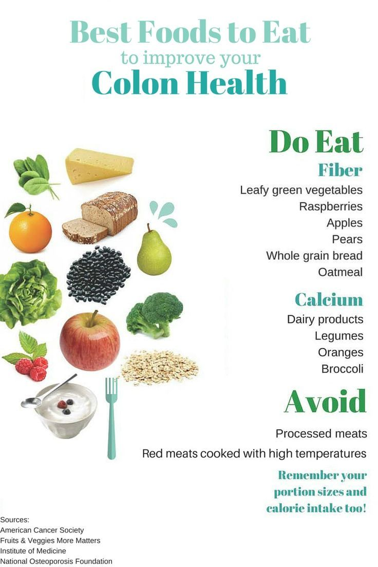 Eating For Colon Health Infographic Best Foods To Improve Your Colon Health Colon Health Cancer Fighting Foods Bad Carbohydrates