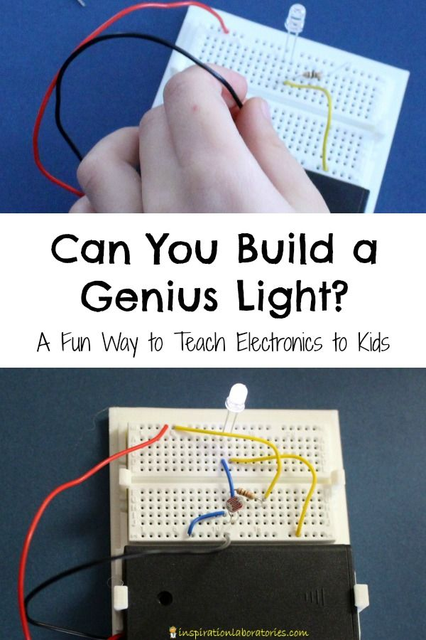 Can you build a genius light? Here's a fun way to teach electronics to kids!