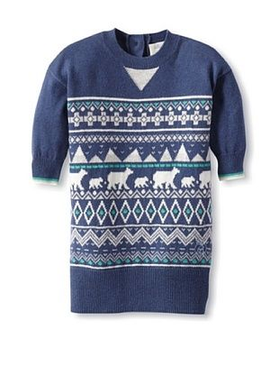 66% OFF Bonnie Baby Baby Polar Fairisle Sweater Dress (Blue)