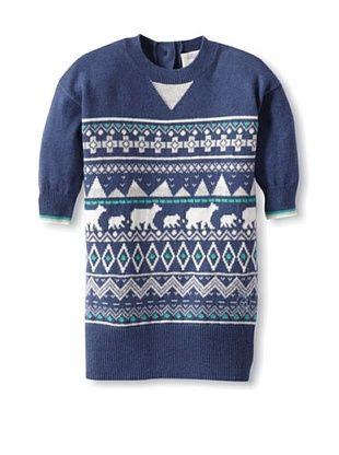 66% OFF Bonnie Baby Baby Polar Fairisle Sweater Dress (Blue)