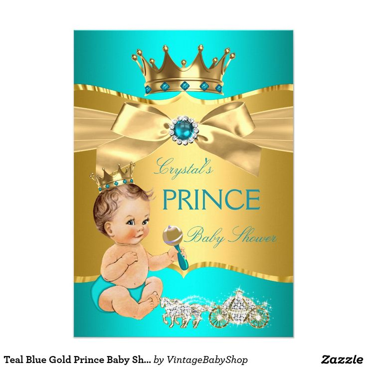 29 best Teal Blue Baby Shower Invitations Boy and Girl images on ...