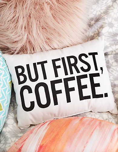Dormify But First Coffee Pillow, Soft Muslin | Aerie for American Eagle